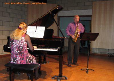 avec Jean-Marc Lissens , saxophoniste