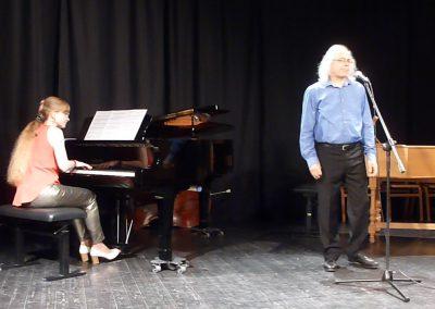 avec Robert Baussay qui chante Léo Ferré